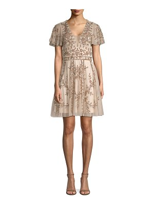 Aidan Mattox beaded a-line dress