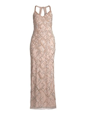 Aidan Mattox beaded halter-neck gown