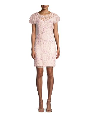 Aidan Mattox beaded lace cocktail dress