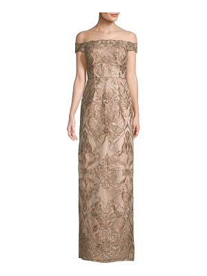 Aidan Mattox beaded lace gown
