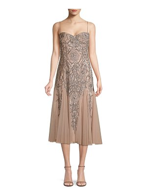 Aidan Mattox beaded midi dress