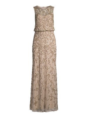 Aidan Mattox blouson beaded gown