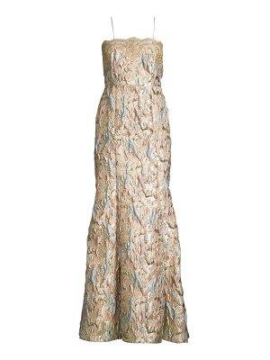 Aidan Mattox brocade mermaid gown