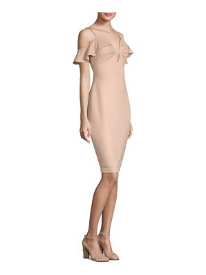 Aidan Mattox cold-shoulder sheath dress