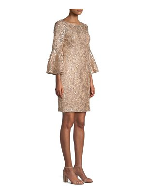 Aidan Mattox embroidered bell sleeve dress
