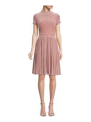 Aidan Mattox pleated a-line dress