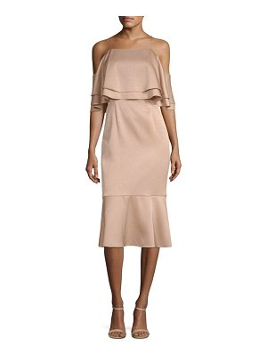 Aidan Mattox satin cocktail dress