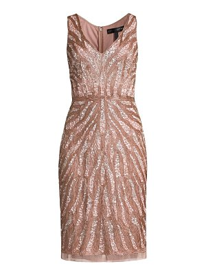 Aidan Mattox sequin beaded cocktail dress