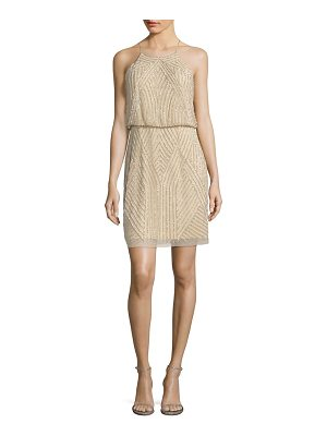 Aidan Mattox sequins blouson dress