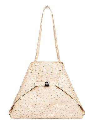 AKRIS AI Medium Soft Ostrich Shoulder Bag