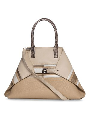 AKRIS Ai Small Orizzonte Patchwork Tote Bag