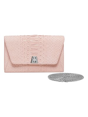 AKRIS Anouk Sueded Python Mini Clutch Bag