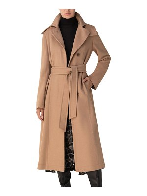 AKRIS Emotion Belted Camel Hair Trench Coat