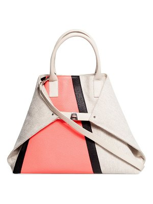 AKRIS ai medium colorblock top handle bag