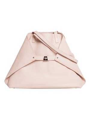 AKRIS medium leather foldable shoulder tote