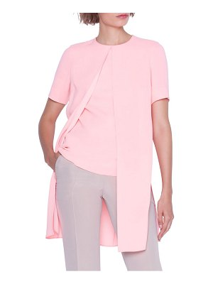AKRIS overlay silk crepe top