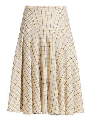 Akris punto check a-line skirt