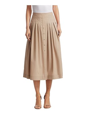 AKRIS PUNTO Pleated A-Line Skirt