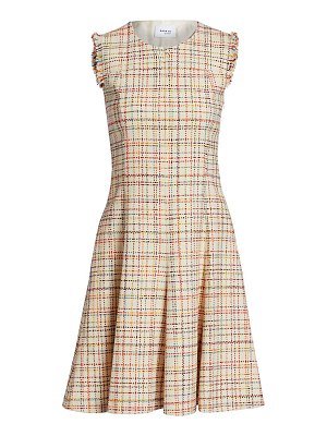 Akris punto sleeveless roundneck tweed dress