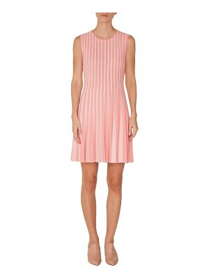 Akris punto stripe pleated dress