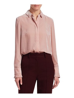 Akris punto velvet button-down blouse