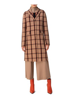 Akris punto wool blend coat