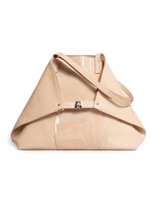 AKRIS small ai pieced leather tote