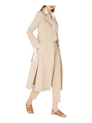AKRIS Teri Single-Breasted Belted Cotton-Silk Gabardine Trench Coat