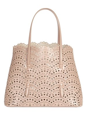 Alaïa medium mina perforated leather tote