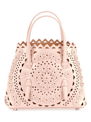 ALAIA Mina Mini Cuir Lux Crossbody Bag