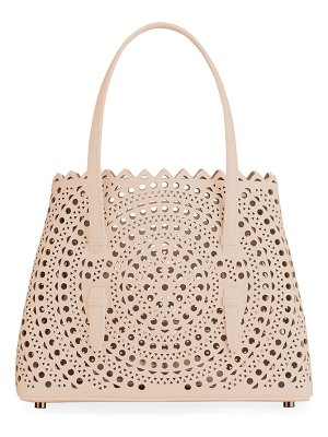ALAIA Mina Small Laser-Cut Tote Bag