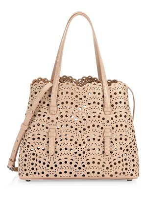 ALAIA vienne mini laser-cut leather tote