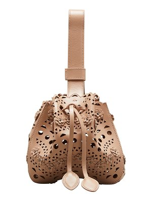 ALAIA Rose Marie Laser-Cut Bucket Bag