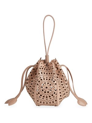 ALAIA Rose Marie Mini Lux Bucket Bag