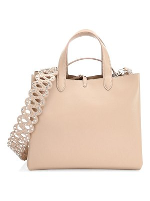Alaïa small embellished-strap leather shopper