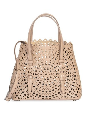 Alaïa small mina perforated leather tote