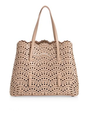 ALAIA small mina vienne leather tote