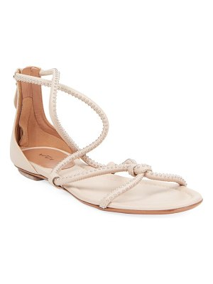 Alaïa stud flat leather sandals