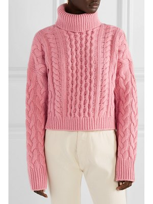 ALANUI cashmere and wool-blend cable-knit turtleneck sweater