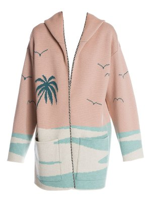 ALANUI palm beach wool hooded cardigan