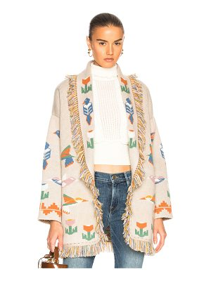 ALANUI Tree of Life Oversized Jacquard Cardigan