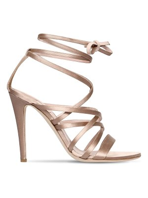 Alberta Ferretti 105mm satin lace-up sandals