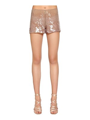 Alberta Ferretti Beaded & sequined tulle shorts