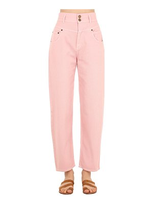 Alberta Ferretti High waist cotton denim jeans