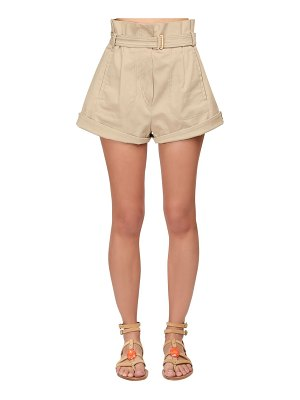 Alberta Ferretti High waist stretch gabardine shorts