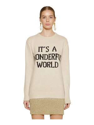Alberta Ferretti Long cashmere blend knit sweater