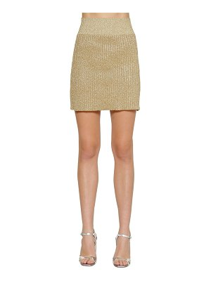 Alberta Ferretti Lurex rib knit mini skirt