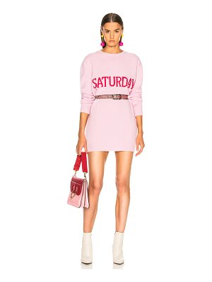Alberta Ferretti Saturday Crewneck Sweater Dress