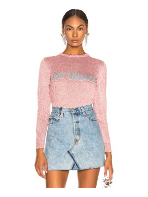Alberta Ferretti Saturday Lurex Crewneck Sweater