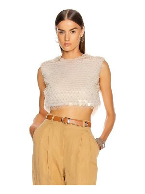 Alberta Ferretti sequin sleeveless top